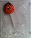 Cute Pumpkin Sucker Chocolate Mold - CCH071