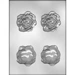 "2-1/2"" 3D Rose Head Mold"
