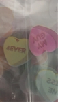 Small Conversation Hearts Cello Bag candy wrappers valentine's day