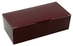 One Pound Burgundy Candy Boxes