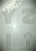 "2-3/4"" Letters Y-Z-!-? Mold"