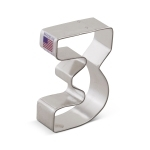 "3"" Number ""3"" Shaped Cookie Cutter"