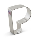 "3"" Letter P Cookie Cutter"