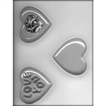 "3-1/4"" Hearts Chocolate Mold"