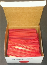 "4"" Red Paper Twist Ties - 2000 Pack"