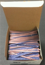 "4"" Stars & Stripes Paper Twist Ties - 2,000 Pack"