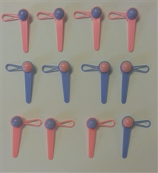 Baby Rattle Cupcake Picks