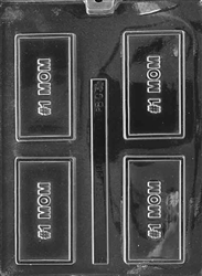#1 Mom Card Chocolate Mold