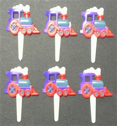 Steam Train Engine Cupcake Picks