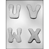 "2-3/4"" Letters U-V-W-X Mold"