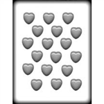 "1-1/8"" Smooth Heart Hard Candy Mold"