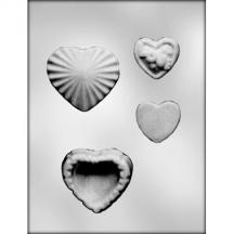 "3-3/8"" Heart Pour Box Mold"