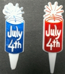 Firecracker 4th of July Cupcake Picks