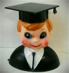 Blonde Graduate Boy Cake Topper