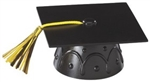 Black Graduate Mortar Board Cap Cake Topper