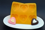 Stacked Heart Assortment Flexible Chocolate Mold