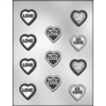 Heart with Messages Chocolate Mold