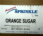 Orange American Sugar - 30 Pound Bag
