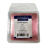 "3"" x 3"" Pinl Foil Wrappers - 125 Pack"