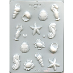 "1-1/4"" - 2"" Sea Creatures Hard Candy Mold"