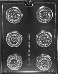 """50"" Sandwich Cookie Chocolate Mold"