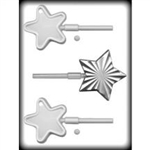 "3"" & 4"" Star Suckers Hard Candy Mold cookie plastic pop lollipop"