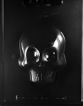 3D Skull Front Chocolate Mold