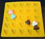 "1"" Heart Shaped Flexible Mold"