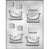 "2-5/8"" Sleigh 3D Mold holiday christmas chocolate candy gift winter"