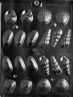3D Shells Chocolate Mold