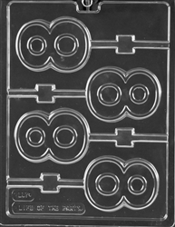 Number 8 Lolly Chocolate Mold - LPL057