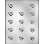 Baby Girl Hearts Chocolate Mold