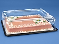 Half Sheet Clear Plastic Cake Boxes wedding cake anniversary birthday