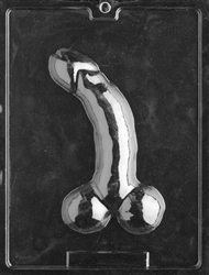 "8"" Curved Penis Chocolate Mold"