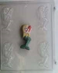 Small Mermaid Holding Shell Chocolate Mold