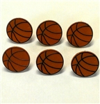 Basketball Rings Or Cupcake Toppers - 6 Pack