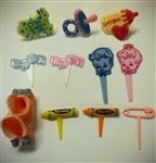 Assorted Baby Themed Cupcake Picks - 12 Pack