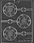 Happy Father's Day Lolly Chocolate Mold