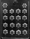 bite size snowflake decos chocolate mold candy small christmas holiday winter