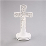 Language of Love Cross Wedding Cake Topper