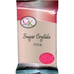 Pink Sugar Crystals - 1 Pound
