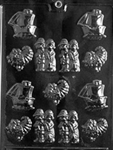 Bite Size Thanksgiving Assortment Chocolate Mold