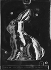 3D Sitting Bunny Chocolate Mold, Piece 1