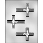 "4"" Cross with Flower Chocolate Mold"