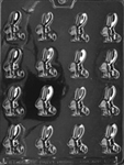 Bite Size Long Eared Bunny Chocolate Mold baby shower rabbit animal easter