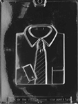 Shirt with Neck Tie Chocolate Mold