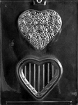 Flowered Heart Pour Box Chocolate Mold valentine wedding mothers day