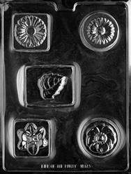 Bar with Flowers Soap/Chocolate Mold