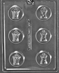 Bride & Groom on Heart Cookie Chocolate Mold