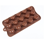 Dimpled Heart Silicone Mold candy chocolate treat homemade diy